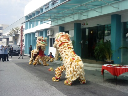 Lion Dance Performance Photo 1 at HOE Pharmaceuticals