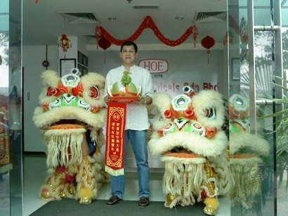 Lion Dance Performance Photo 4 at HOE Pharmaceuticals