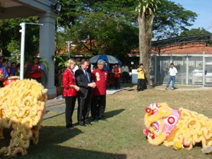 Lion Dance Performance Photo 2 at United States Embassay