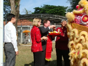 Lion Dance Performance Photo 3 at United States Embassay