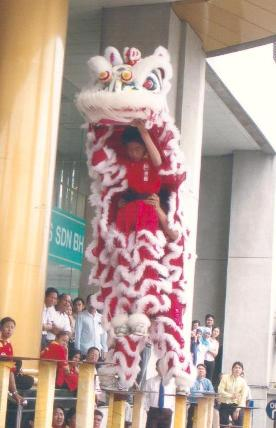 Lion Dance Performance in Berjaya Times Square